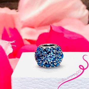 NWT PANDORA Shimmering Droplet London Blue Crystal